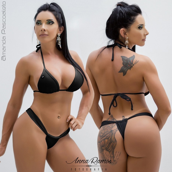 Conjunto Fio Dental Bikinis Anna Carol Cortininha Sexy Fdv-2