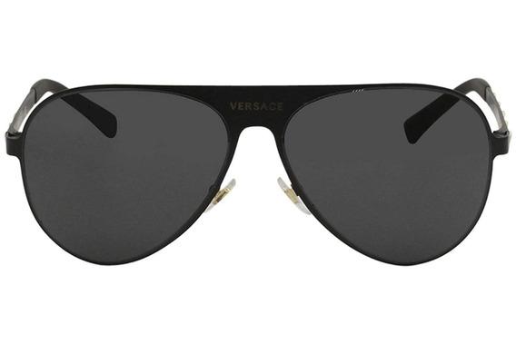 Lentes De Sol Versace Ve2189 1425/87 Negro/dorado Unisex
