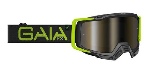 Oculos Gaia Offroad Motocross Trilha Mx Pro Black Light