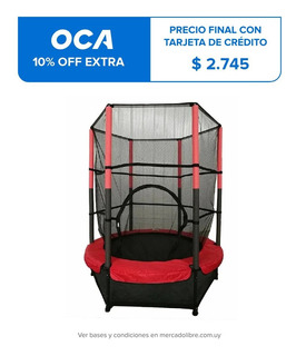 Cama Elastica Con Proteccion 1,40mts Red Seguridad Alta 1.8m