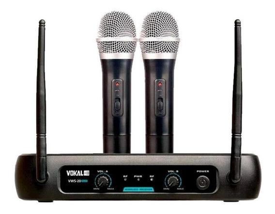 Kit de microfones Vokal VWS-20 Plus dinâmico cardióide