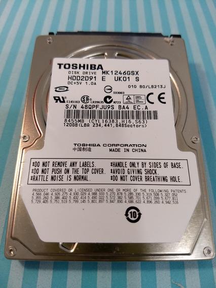 Hd Toshiba Mk1246gsx Notebook Sata 120gb