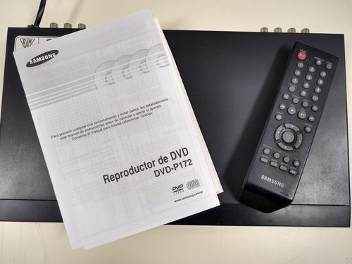 Reproductor De Dvd Samsung P172 Con Control Y Cables.