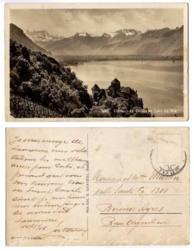 Francia Postal Chateau De Chillon