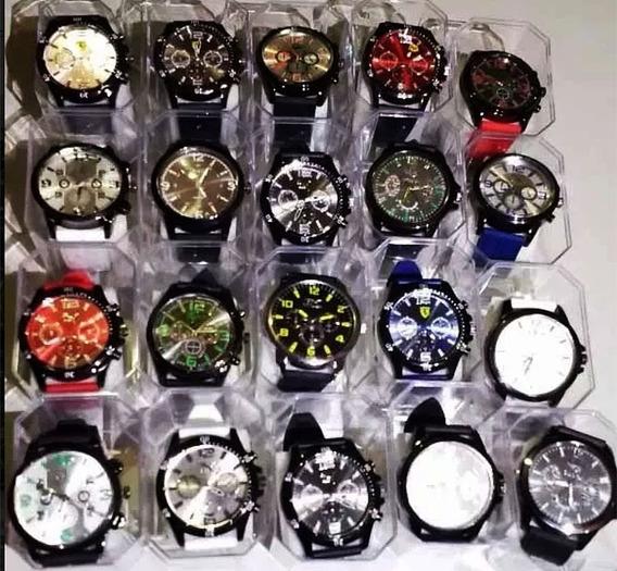 Promoção 15 Relógios+15baterias+15 Caixas Masculino Revenda