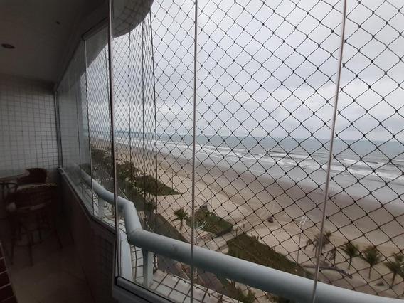 Apartamento 02 Dormitórios, Sacada Frente Mar, Caiçara, Praia Grande. - Ap0191