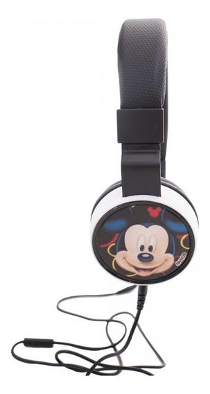 Fone De Ouvido Supra Auricular Do Mickey Disney Cabo 1,20mt
