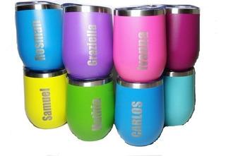 Vaso Termico Cooler Vino Grabado Personalizado Termo 12 Oz