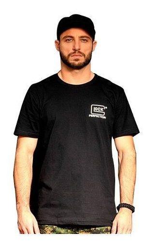 Camiseta Masculina Estampa Pistola Glock Airsoft Bravo Preta
