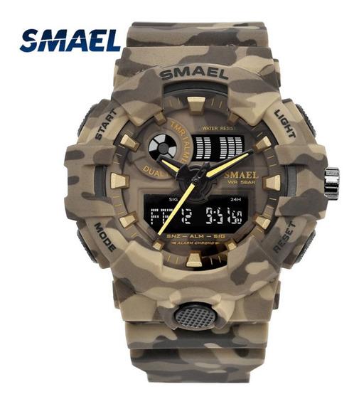 Relógio Smael 8001 ( Khaki )