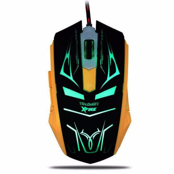 Mouse Gamer Tecdrive Xfire Neith 3200 Dpi 7 Botões - Verde
