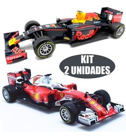 Kit 2 Miniatura Burago F1 Ferrari Gran + Rb12 Gran Tag Heuer