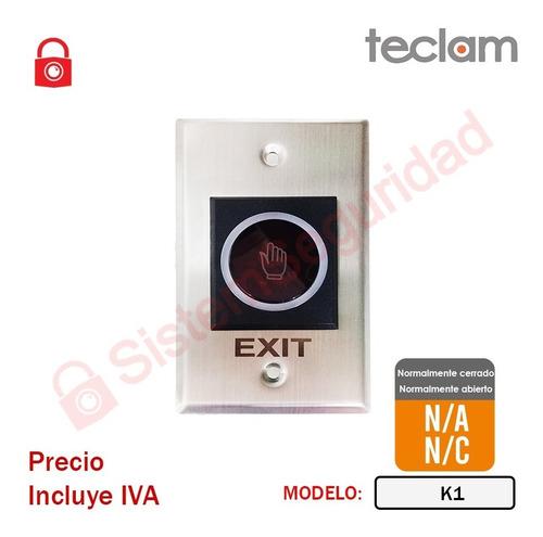 Imagen 1 de 3 de Boton De Salida No Touch  Control Accesos K1 Teclam