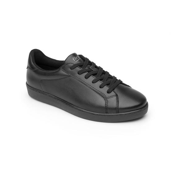Sneaker Flexi Dama 33510 Negro Piel
