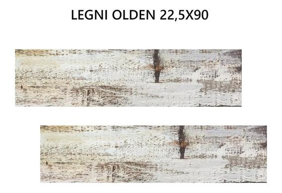 Porcelanato Ilva Legni Olden 22,5x90 Simil Madera