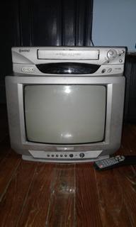 Combo Televisor 14 Y Videocassetera Funcionando