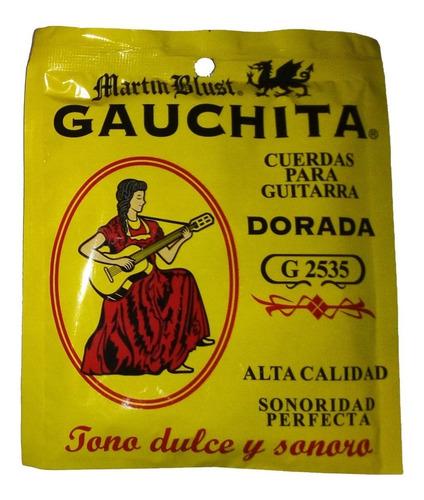 Imagen 1 de 6 de Encordado Guitarra Criolla Clasica Cuerdas Gauchita