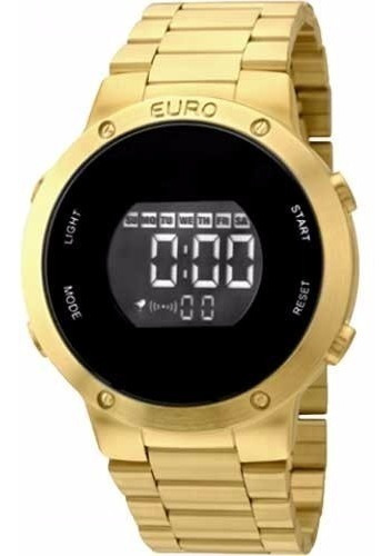 Relogio Euro Feminino Eubj3279aa/4d Dourado Digital Fashion Fit