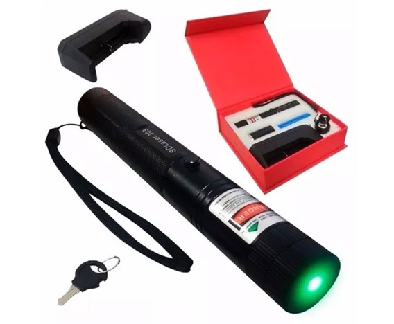 Super Caneta Laser Pointer Feixe Luz Verde Forte C/ Efeitos