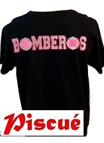 Remera Estampada Para Bomberos!!!! Modelo 40 Mujer Piscué