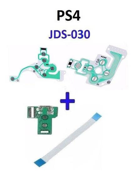Placa Controle Ps4 Jds030 + Cabo Flat + Película Fret 13,99