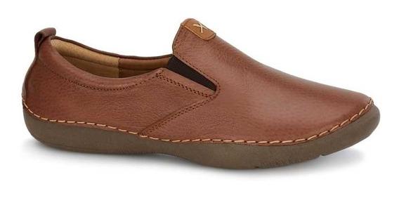 Zapato Loafer Dama Ultrafresh Cafe Comodo Casual Doble Ancho