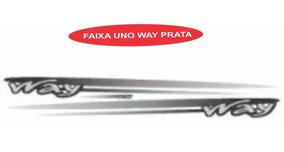 Adesivo Faixa Lateral Uno Way Cor Prata - Jogo