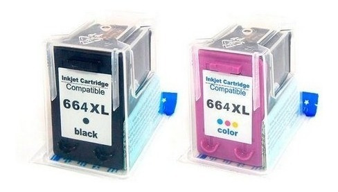 Kit Cartucho 664xl Preto + Color F6v31a 1115 2136 3636 3836