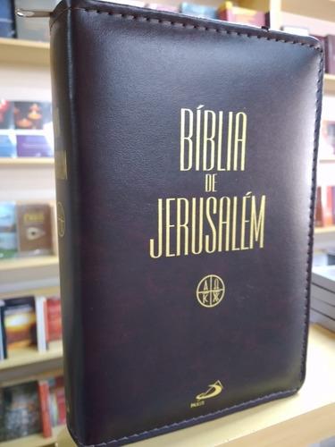 Bíblia De Jerusalém Média Ziper