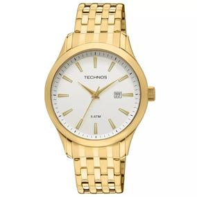 Relógio Technos Masculino Social Dourado Barato 2115tz/4b