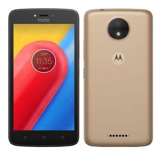 Smartphone Motorola Moto C Dourado Original Vitrine + Nfe
