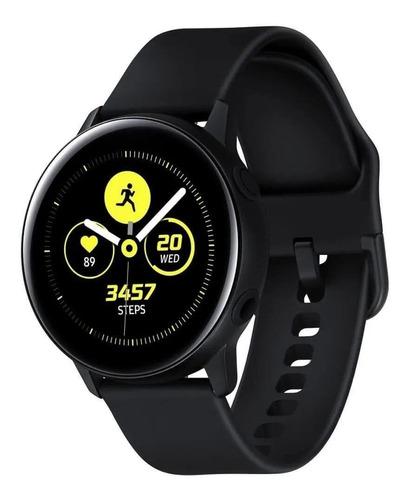 """Samsung Galaxy Watch Active2 (LTE) 1.4"""" com rede móvel caixa 44mm de  aço inoxidável  black SM-R825F"""
