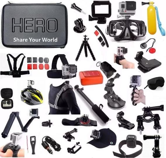 Kit Completo P Gopro Hero Plus Hero 4 Tripé Articulado