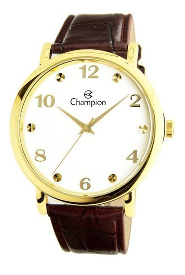 Relógio Masculino Social Champion Cn20659b Puls De Couro