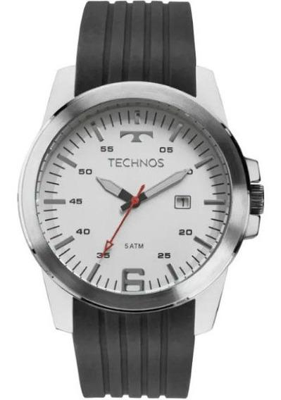Relógio Technos Masculino Prata Silicone Aço 2117laf/8b