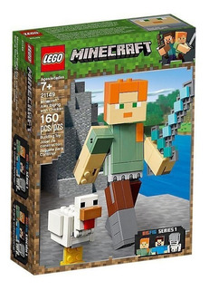 Lego Minecraft Bigfig Minecraft: Alex Con Gallina 21149
