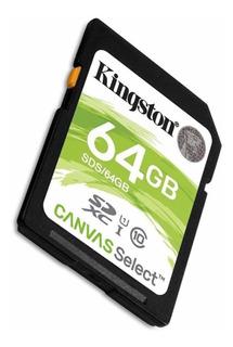 Memoria Sd 64gb Kingston Canvas