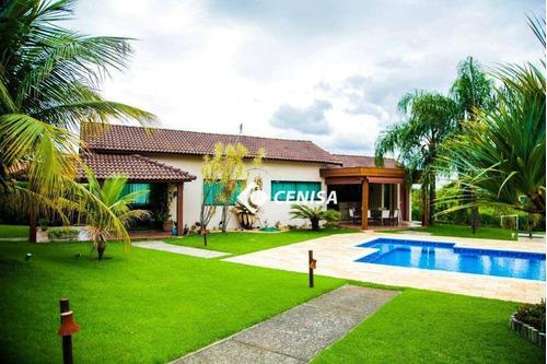 Chácara Com 6 Dormitórios À Venda, 5000 M² - Condomínio Recanto Das Flores - Indaiatuba/sp - Ch0152