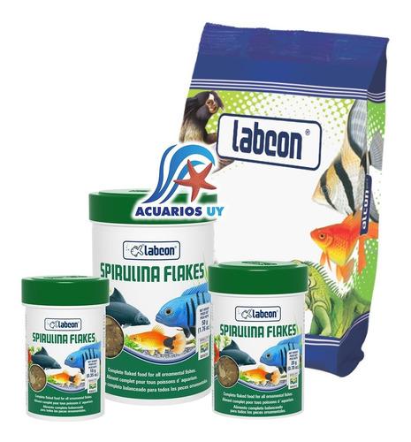 Alimento Peces Agua Tropical Y Marinos. Labcon Spirulina 50g