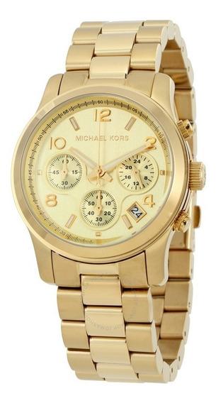 Relógio Michael Kors Ladies Runway Gold Mk5055