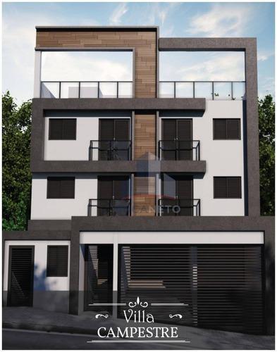 Cobertura Com 2 Dormitórios À Venda, 79 M² Por R$ 369.000,00 - Bairro Campestre - Santo André/sp - Co0123