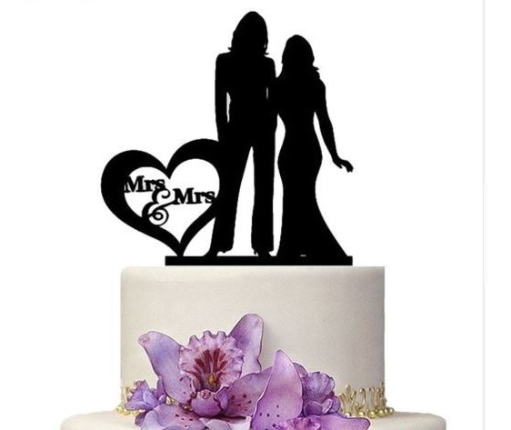 Novios De Pastel Cake Topper Modelo Lgbt Novias Chicas