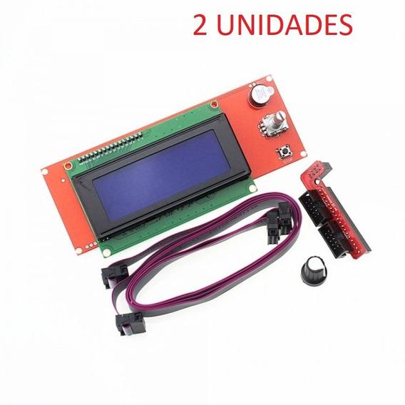 2 Unidades - Display Tela Lcd Para Impressora 3d Ramps