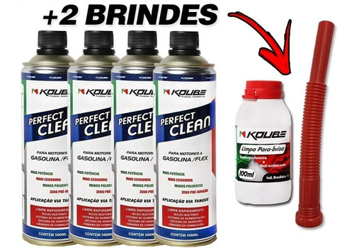 Kit 4 Perfect Clean Flex Koube + Brinde Exclusivo