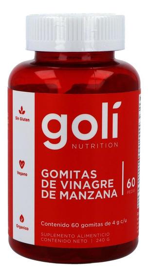 Goli Gomitas De Vinagre De Manzana Frasco Con 60 Gomitas