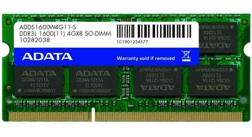 Memoria Note A-data 4gb 1600mhz Ddr3l Cl11 Sodim