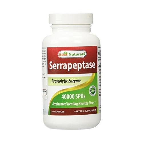 Mejores Naturals Serrapeptase 40000 Spus 180 Cápsulas