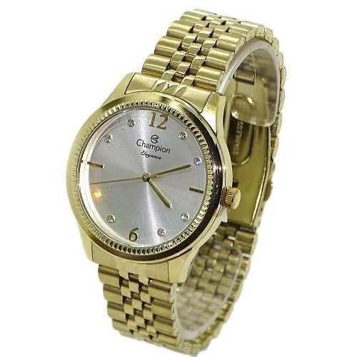 Relógio Feminino Champion Eleganc Dourado Cn25770h Original