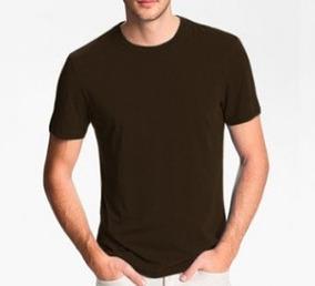 Camiseta Básica Lisa Pv Malha Fria Marrom Escuro Unissex