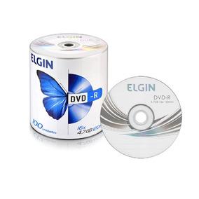 100 Dvd-r Elgin 4,7 Gb 120min 16x Logo